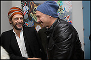 HARUMI KLOSSOWSKI;BENOIT PEVERILL;  JAMES FRANCO, James Franco exhibition 'Fat Squirrel' at Siegfried Contemporary, Basset Rd, London W10. 23 November 2014.