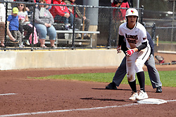 22 April 2017:  Alex Caliva during a Missouri Valley Conference (MVC) women's softball game between the Missouri State Bears and the Illinois State Redbirds on Marian Kneer Field in Normal IL
