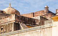 Amer Palace and Jaigarh Fort, Amer, India.