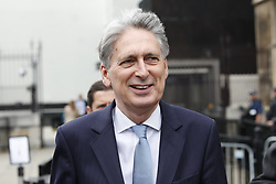 © Licensed to London News Pictures. 20/06/2019. London, UK. Chancellor Philip Hammond walks from Parliament. Today will see Conservative MPs hold the last ballots to decide the final two candidates in the leadership battle. Photo credit: Peter Macdiarmid/LNP