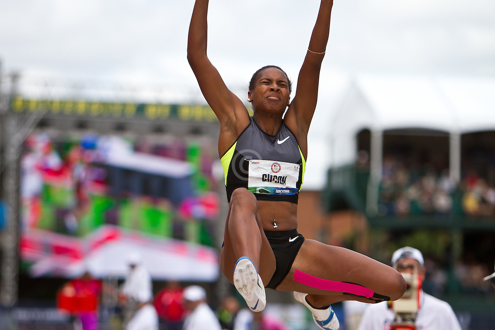 Olympic Trials Eugene 2012: women's long jump, Whitney Gibson, 4th women's Long Jump