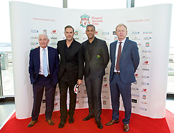 LIVERPOOL, ENGLAND - Thursday, May 12, 2016: Liverpool's former manager Roy Evans and former players Jason McAteer, Phil Babb and David Fairclough arrive on the red carpet for the Liverpool FC Players' Awards Dinner 2016 at the Liverpool Arena. (Pic by David Rawcliffe/Propaganda)