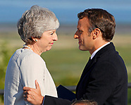 President Macron & Theresa May Unveil D-Day Sculpture