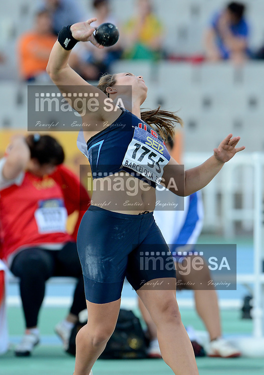 BARCELONA, Spain: Tuesday 10 July 2012, Torie Owers of the United States of America in the final of the women's shot put during the afternoon session of Day 1 of the IAAF World Junior Championships at the Estadi Olimpic de Montjuic..Photo by Roger Sedres/ImageSA