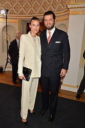 PRINCE CASIMIR ZU SAYN-WITTGENSTEIN-SAYN and ALANA BUNTE at an evenig of Jewellery & Photography to launch the Buccellati 'Opera Collection' held at Spencer House, London on 21st October 2015.
