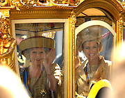 Prinsjesdag 2007 in The Hague. <br /> <br /> On the Photo: Queen Beatrix and Prinses Maxima in the Golden Carrage