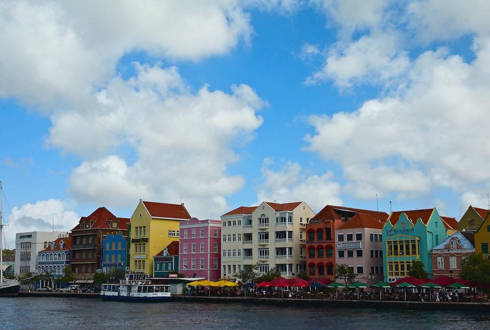 Dutch architecture on Handelskade, Willemstad