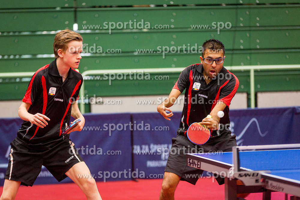 BELGIUM (DEVOS Laurens and DESPINEUX Ben Ashok) during day 4 of 15th EPINT tournament - European Table Tennis Championships for the Disabled 2017, at Arena Tri Lilije, Lasko, Slovenia, on October 1, 2017. Photo by Ziga Zupan / Sportida