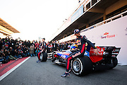 February 26, 2017: Circuit de Catalunya. Scuderia Toro Rosso team launch of the STR12 with Carlos Sainz Jr. (SPA) and Daniil Kvyat, (RUS).