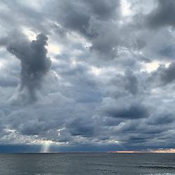 Dramatic Sky in Montauk over the ocean