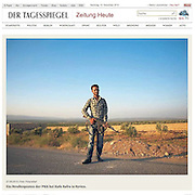 "Screengrab of ""PKK in northern Syria"" published in Der Tagesspiegel"