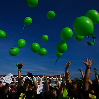 Activists release a balloons during anti Lynas rally in Kuantan, 250 km northeast of Kuala Lumpur, Malaysia, 25 February 2012. Lynas, an Australian rare earths mining company has evoked fears of radiation contamination as residents desperately seek to stop the construction of the world's largest such refinery. The 700-million-ringgit (233 million dollars) refinery constructed by Australia's Lynas Corp, plans to ship rare earth ore mined from Western Australia's Mount Weld to the Gebeng plant in Malaysia. Rare earth elements, a group of 15 metals, are used in electronic devices for the defence, alternative energy and communications industries.