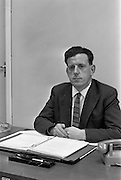 19/09/1963<br /> 09/19/1963<br /> 19 September 1963<br /> Mr. K.G. O'Brien, at his desk at I.C.T. Adelaide Road, Dublin.