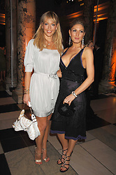 Left to right, LIZ FULLER and HOFIT GOLAN at a reception to launch Montblanc's First Fine Jewellery Collection held at The Victoria & Albert Museum, Cromwell Road, London SW7 on 24th April 2007.<br />