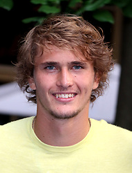 August 23, 2018 - New York City, New York, U.S. - Tennis player ALEXANDER ZVEREV attends the 2018 Lotte Palace Invitational Badminton Tournament held at the Lotte New York Palace. (Credit Image: © Nancy Kaszerman via ZUMA Wire)
