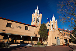Exterior of San Felipe de Neri Church, Albuquerque, New Mexico, United States of America
