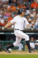 May 31, 2010: Detroit Tigers' Johnny Damon (18) during the MLB baseball game between the Oakland Athletics and Detroit Tigers at  Comerica Park in Detroit, Michigan. Oakland defeated Detroit 4-1.