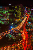Traffic around Namdaemun (The Great South Gate), Seoul, South Korea