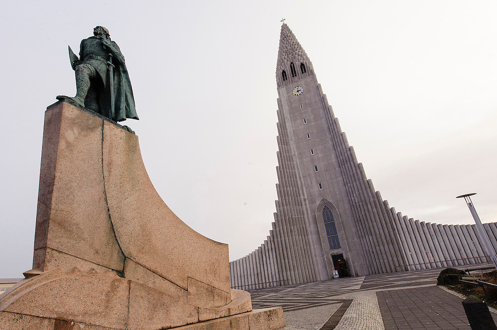 Photos of Hallgrimskirkja church during Iceland Airwaves Music Festival in Reykjavik, Iceland. November 7, 2012. Copyright © 2012 Matthew Eisman. All Rights Reserved.