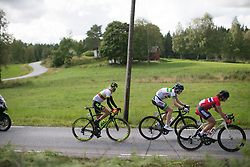 Daiva Tuslate (LTU) of Ale-Cipollini Cycling Team checks what is behind them on Stage 3 of the Ladies Tour of Norway - a 156.6 km road race, between Svinesund (SE) and Halden on August 20, 2017, in Ostfold, Norway. (Photo by Balint Hamvas/Velofocus.com)