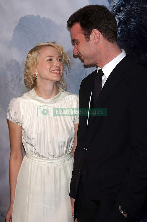 Naomi Watts and Liev Schreiber at the World Premiere of &quot;King Kong&quot;.<br /> (NYC)