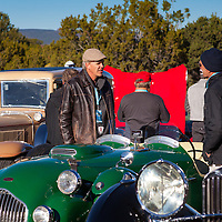Gathering at Arroyo Vino for the Mountain Tour, part of the 2013 Santa Fe Concorso.