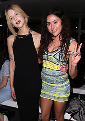 Peaches Geldof and Eliza Doolittle at the Mark Fast show  at opening day of London Fashion Week for Autumn/Winter 2014 , Friday, 14th February 2014. Picture by Stephen Lock / i-Images