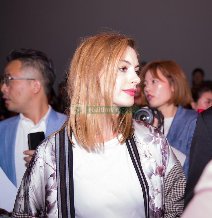 September 12, 2018 - New York, New York, United States - Ann Hathaway attends Calvin Klein show during New York Fashion Week on September 11, 2018 in New York City. (Credit Image: © Oleg Chebotarev/NurPhoto/ZUMA Press)
