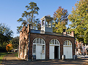 John Brown's Fort was a guard house / fire engine house that Brown raided at the Harpers Ferry Armory in 1859 in Virginia (now in West Virginia), where the abolitionist attempted to incite a slave insurrection, 2 years before the Civil War. The building was built in 1848 as a guard and fire engine house for the federal Harpers Ferry Armory. Harpers Ferry, a historic town in Jefferson County, West Virginia, is one of the few towns directly traversed by the Appalachian Trail. The town contains both Harpers Ferry National Historical Park and the populated Harpers Ferry Historic District (higher above the flood plain), at the confluence of the Potomac and Shenandoah Rivers where the US states of Maryland, Virginia, and West Virginia meet. Historically, Harpers Ferry is best known for John Brown's raid on the Armory in 1859 and its role in the American Civil War.