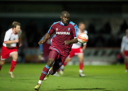 STEVENAGE, ENGLAND - Saturday, December 17, 2011: Tranmere Rovers' Enoch Showunmi in action against Stevenage during the Football League One match at Broadhall Way. (Pic by David Rawcliffe/Propaganda)