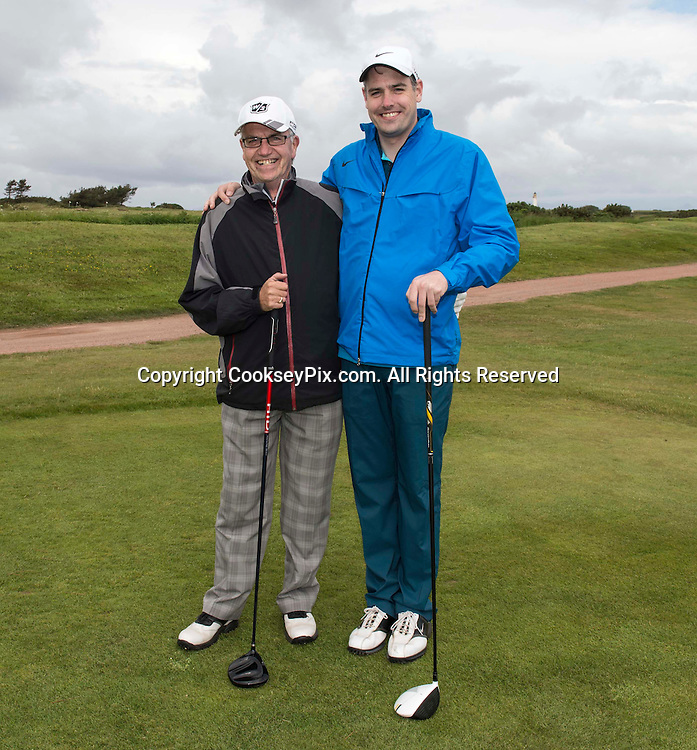 Picture by Christian Cooksey/CookseyPix.com. Free First Use. Fathers Day Golf at Trump Turnberry with The Herald.<br /> <br /> Pictured LtoR David and Alan Purvis from Largs.