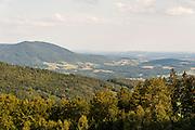 Blick von Rusel bei Deggendorf, Bayerischer Wald, Bayern, Deutschland   view from Rusel near Deggendorf, Bavarian Forest, Bavaria, Germany