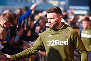 Stuart Dallas of Leeds United (15) arrives at the ground before the EFL Sky Bet Championship match between Leeds United and Bolton Wanderers at Elland Road, Leeds, England on 23 February 2019.