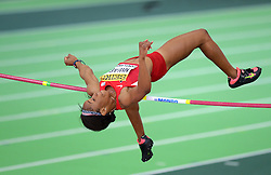 Barbara Nwaba of the United States competes in the Women's Pentathlon High Jump during day two of the IAAF World Indoor Championships at Oregon Convention Center in Portland, Oregon, the United States, on March 18, 2016. EXPA Pictures © 2016, PhotoCredit: EXPA/ Photoshot/ Yin Bogu<br /> <br /> *****ATTENTION - for AUT, SLO, CRO, SRB, BIH, MAZ, SUI only*****