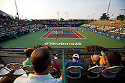 Specators take in a great view of Mediacom Stadium during a match between the Washington Kastles vs. Springfield Lasers on July 11, 2012 in Springfield, Missouri. (David Welker/www.Turfimages.com).