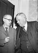 23/07/1958<br /> 07/23/1958<br /> 23 July 1958<br /> Painting of Robert Emmet presented to Seanad Eireann, Leinster House, Dublin. Dr James Ryan T.D., Minister for Finance on right.