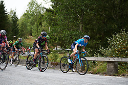 Rachel Neylan (AUS) and Alexis Ryan (USA) on the categorised climb at Ladies Tour of Norway 2018 Stage 3. A 154 km road race from Svinesund to Halden, Norway on August 19, 2018. Photo by Sean Robinson/velofocus.com