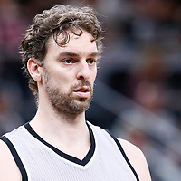 02 April 2017: San Antonio Spurs center Pau Gasol (16) is seen during the San Antonio Spurs 109-103 victory over the Utah Jazz, at the AT&T Center, San Antonio, Texas, USA.