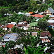 Town, of Boquete, Province of Chiriqui, country of Panama. .A view of the old native Boquete style residence.