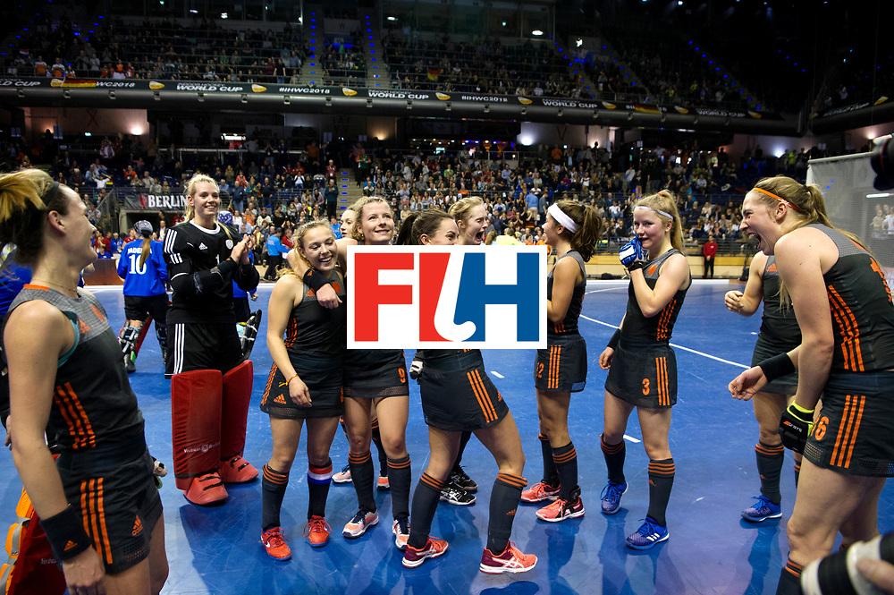 BERLIN - Indoor Hockey World Cup<br /> Semi-final 2: Australia - Austria<br /> foto: Netherlands wins.<br /> WORLDSPORTPICS COPYRIGHT FRANK UIJLENBROEK