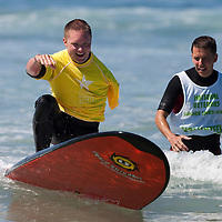 Participants in the National Veterans Summer Sports Clinic in San Diego, California put on by the Veterans Administration