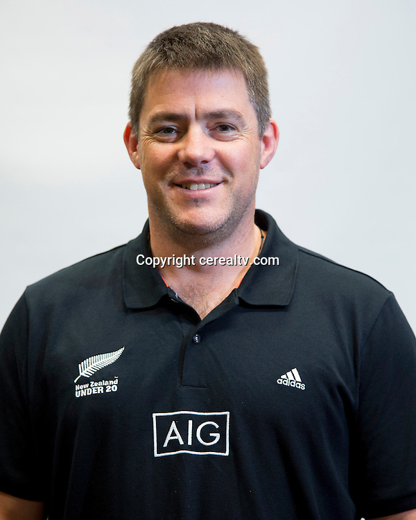 Jo Chivers. U20 New Zealand Rugby Squad Management Team Headshots.