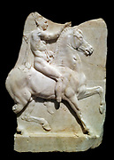 Marble relief of a horseman. Greek, Late Hellenistic. 1st century B.C.