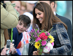 The Duke and Duchess of Cambridge visit The Emirates Arena, Glasgow, Scotland, Thursday April 4, 2013. Photo By Andrew Parsons / i-Images