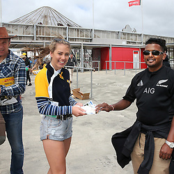 Fans arriving at the 2017 HSBC World Sevens Series Wellington day two at Westpac Stadium in Wellington, New Zealand on Sunday, 29 January 2017. Photo: Martin Hunter / lintottphoto.co.nz