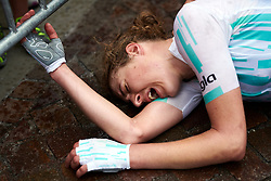 Lizzy Banks (GBR) exhausted by the effort after winning Stage 8 of 2019 Giro Rosa Iccrea, a 133.3 km road race from Vittorio Veneto to Maniago, Italy on July 12, 2019. Photo by Sean Robinson/velofocus.com