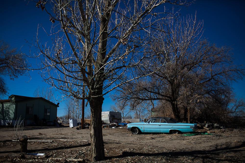 April Brune's former neighborhood in Fallon, Nevada, February 5, 2014.