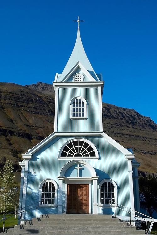 Blue church of Seydisfjordur