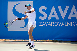 Nick Cmager (SLO) play against Albano Olivetti (FRA) at ATP Challenger Zavarovalnica Sava Slovenia Open 2018, on August 4, 2018 in Sports centre, Portoroz/Portorose, Slovenia. Photo by Urban Urbanc / Sportida