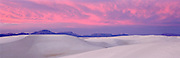 Sunset over White Sands Dunes